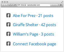 Manage multiple Facebook pages