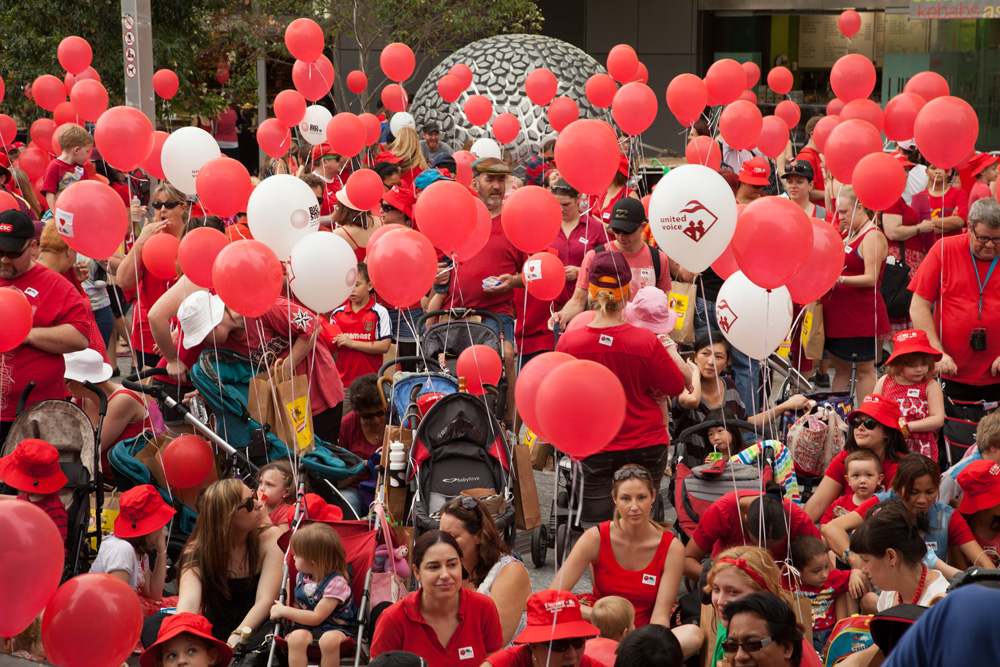United Voice of Queensland Big Steps campaign rally