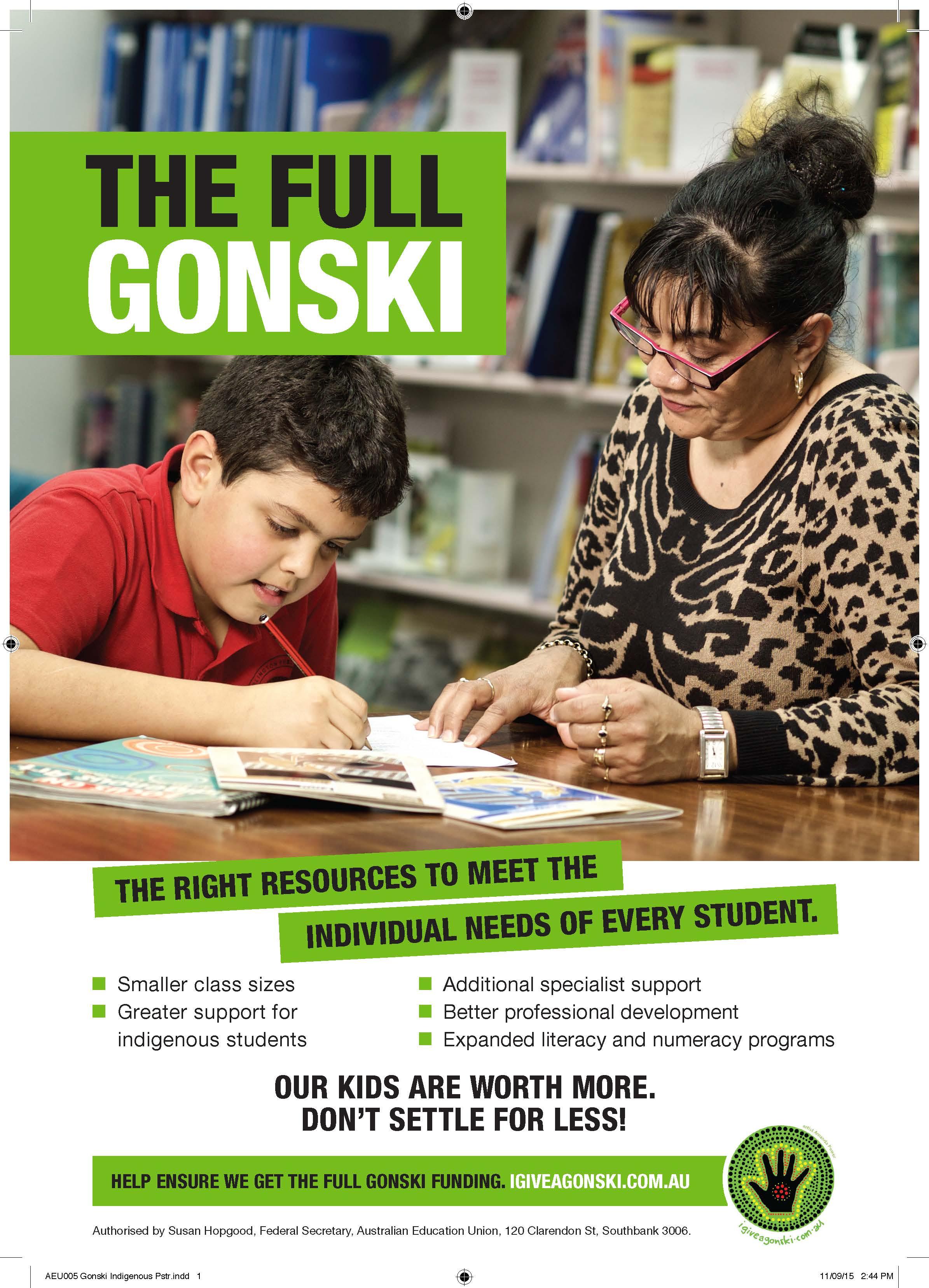 The Full Gonski poster