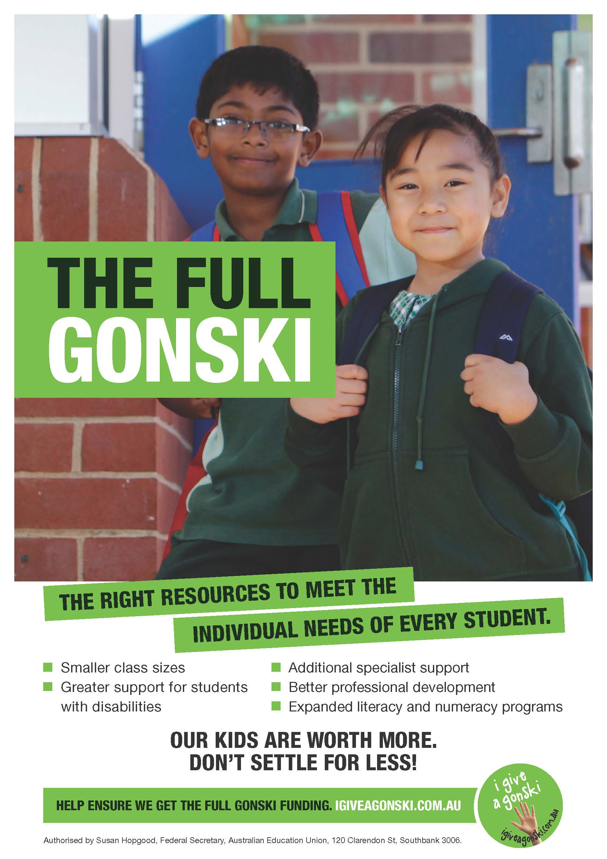 The Full Gonski Poster II
