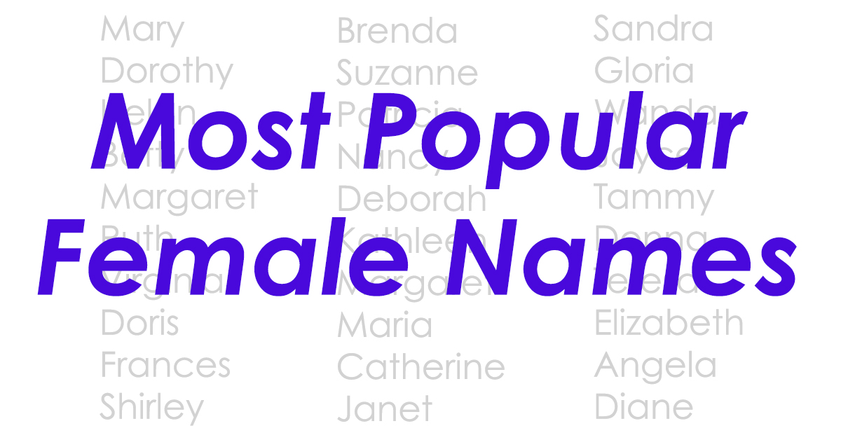 Can You Guess When These Were The Most Popular Girl Names