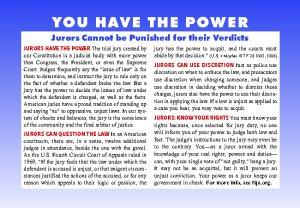 Jury Education Card back