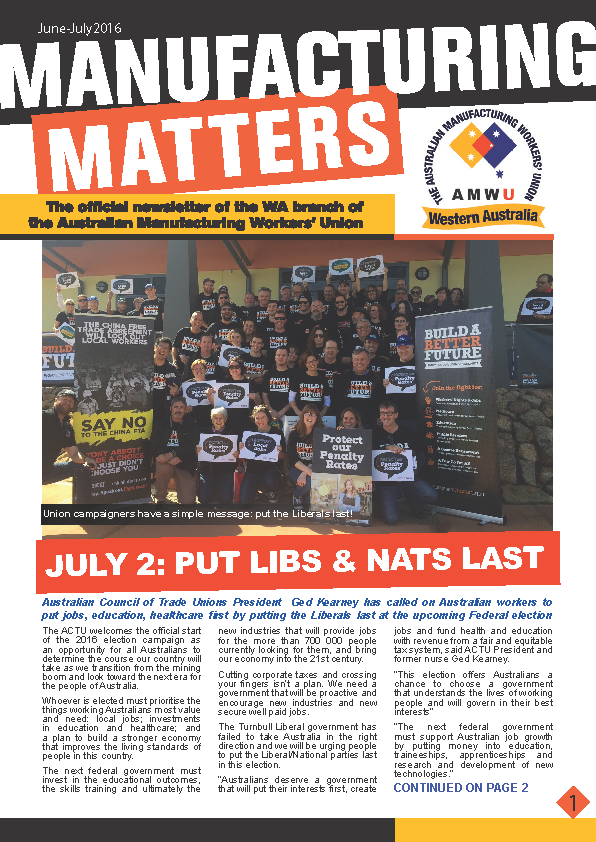 Manufacturing Matters - June/July 2016