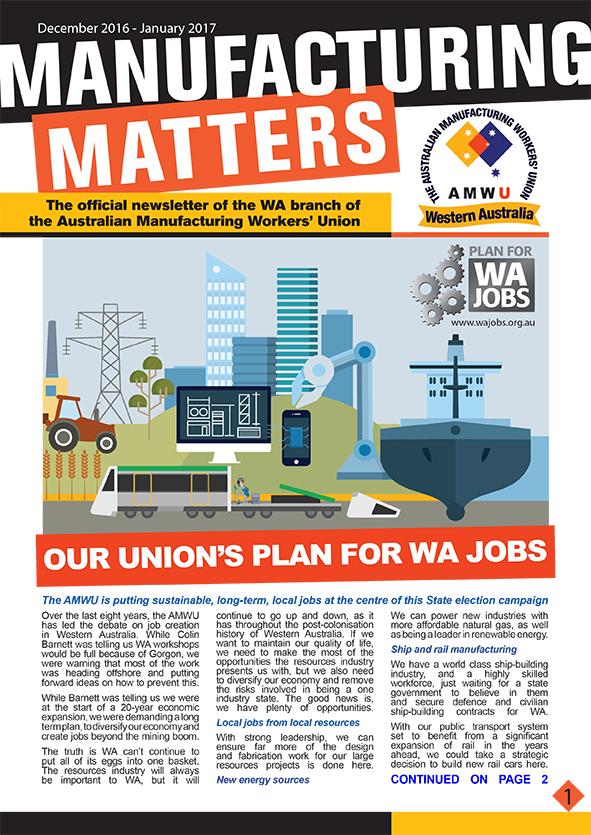 Manufacturing Matters - December '16 - Jan '17