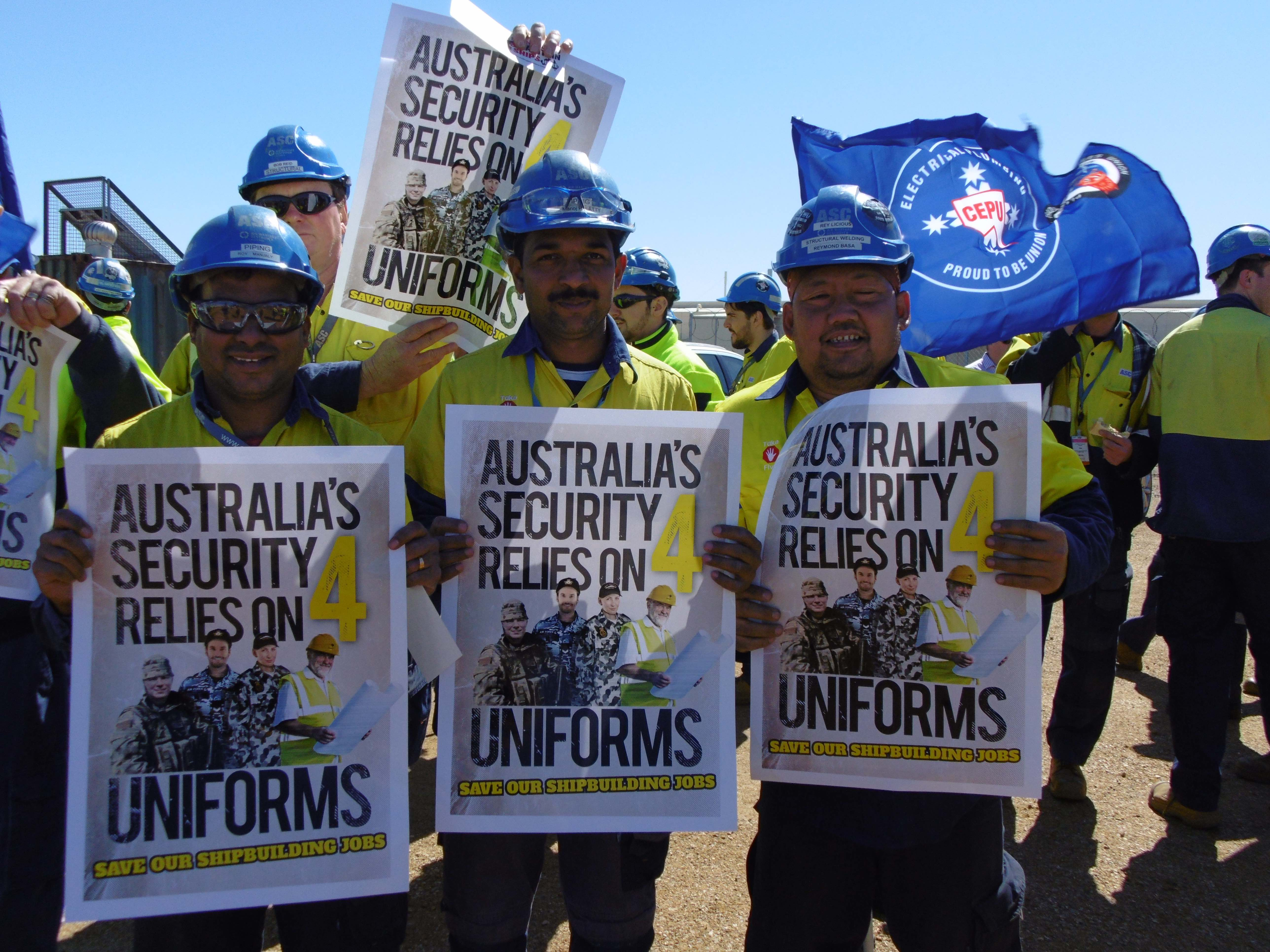 Save Our Jobs - Shipbuilders Rally in Adelaide