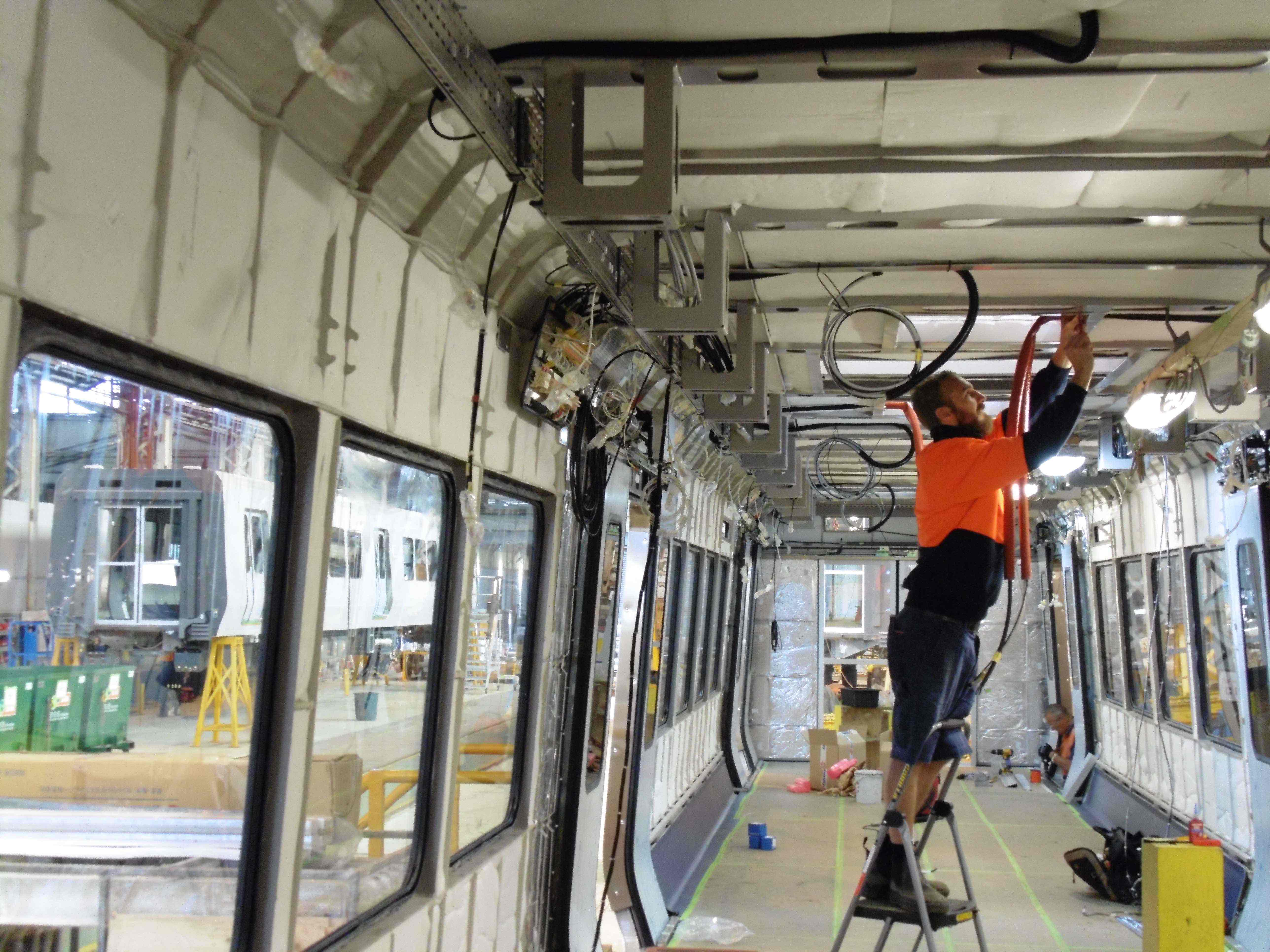 union win new rail work for alstom n manufacturing hard at work fitting out the interiors of new metro trains at alstom ballarat