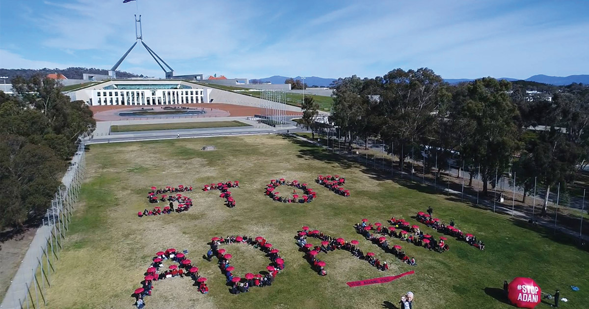 Start 2018 right - First day of parliament Stop Adani action