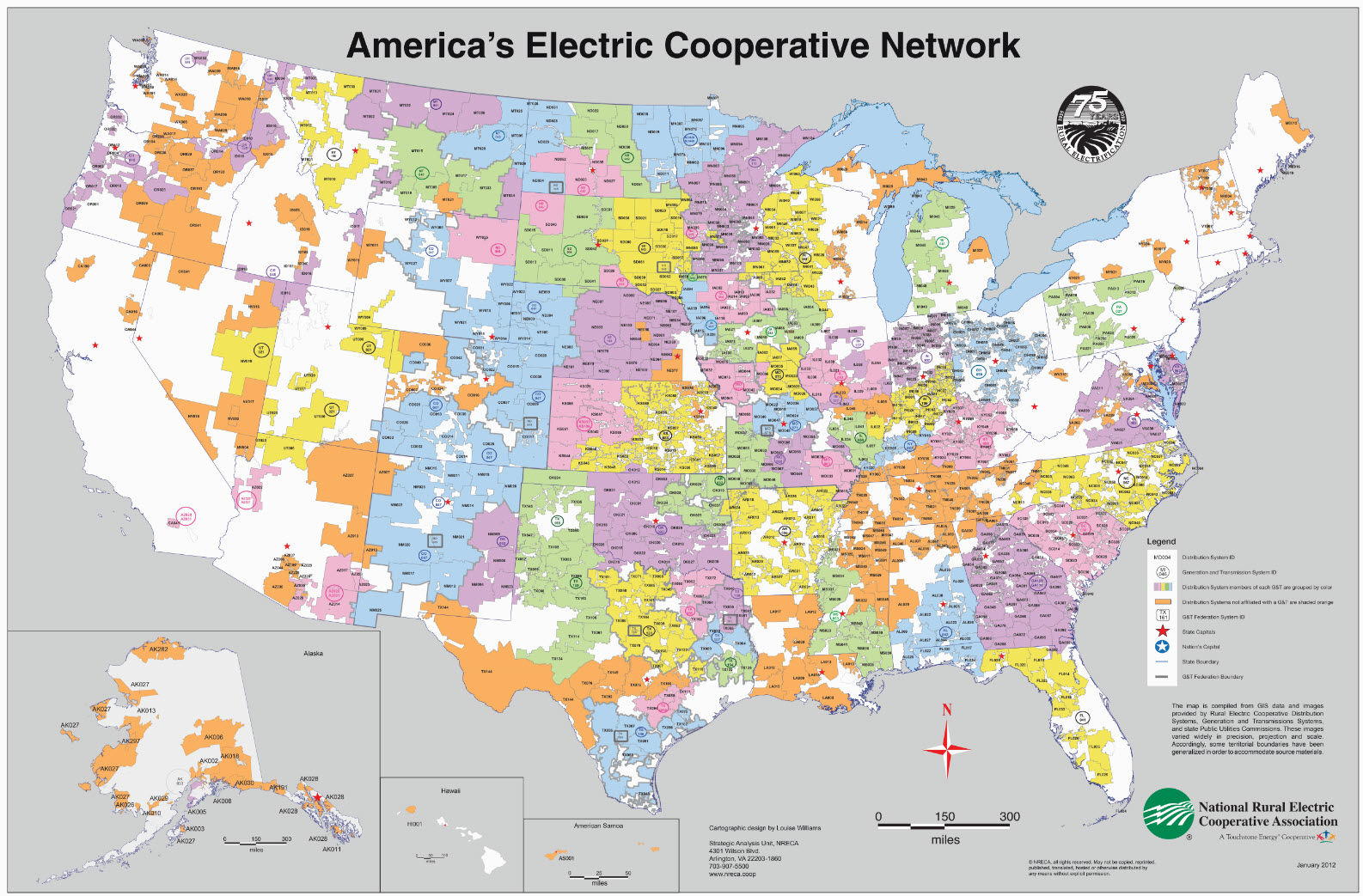 National Rural Electrical Co-op Assoc. Map