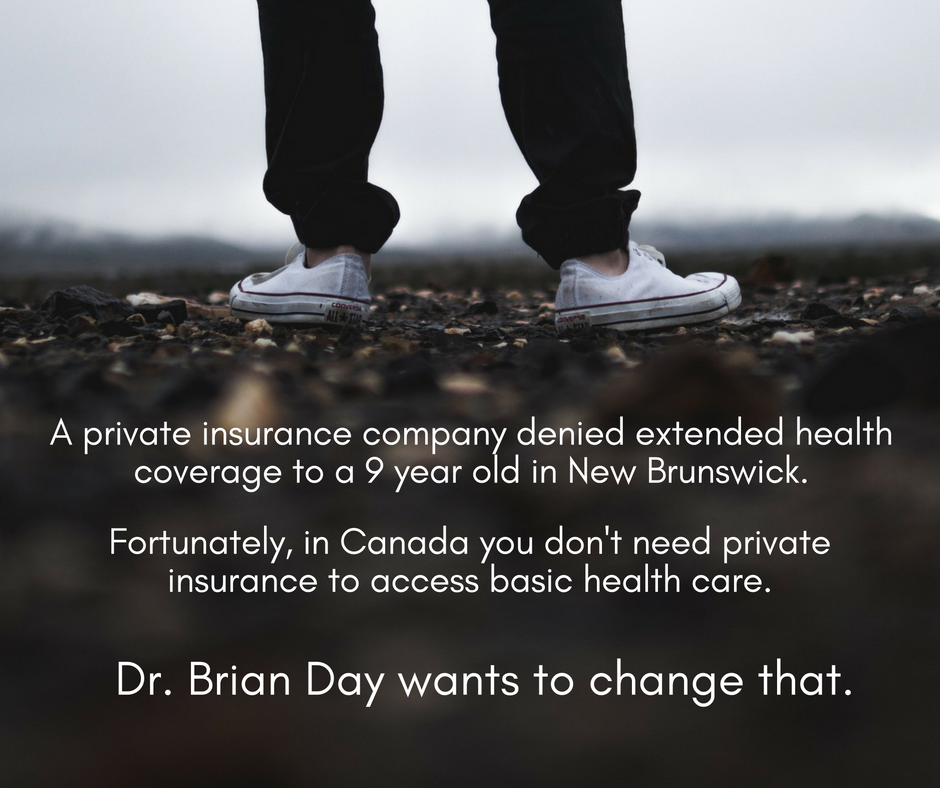 A nine year old was denied extended health coverage by a private  insurance company.