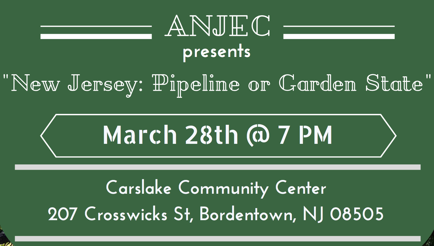 Event NJ Pipeline or Garden State Bordentown Township