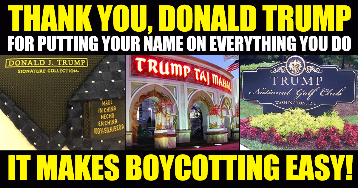 Image result for boycott trump