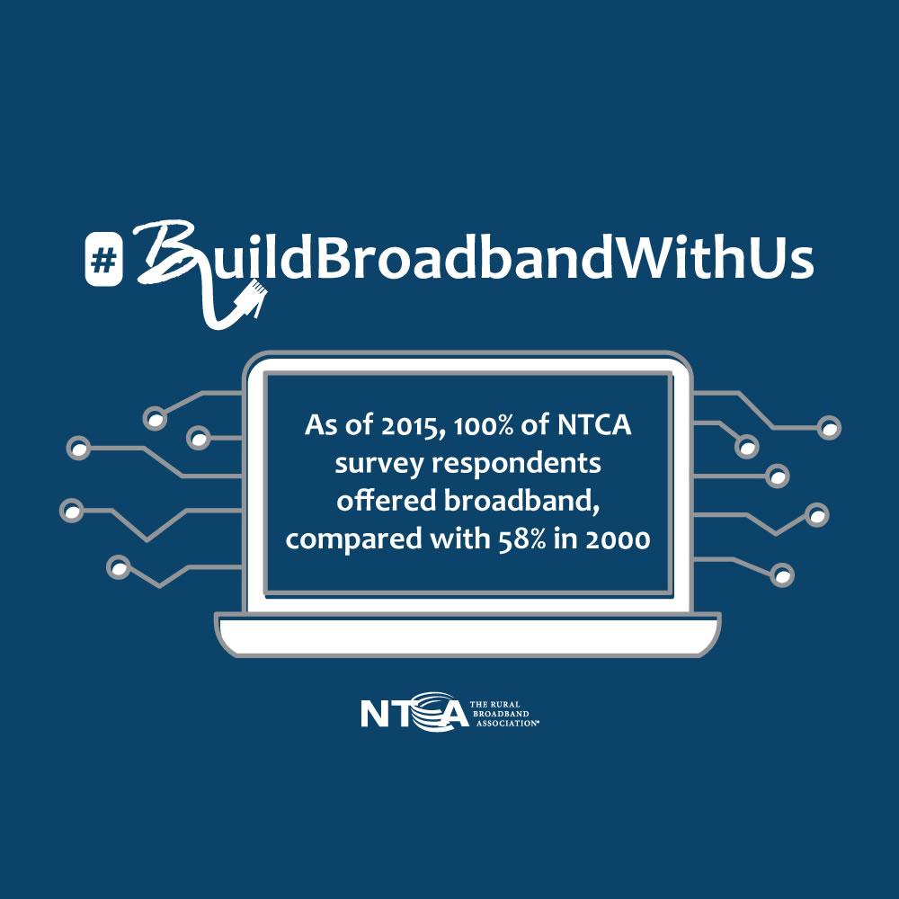 100% of NTCA members offer #broadband services as we continue to pave future innovation in rural America