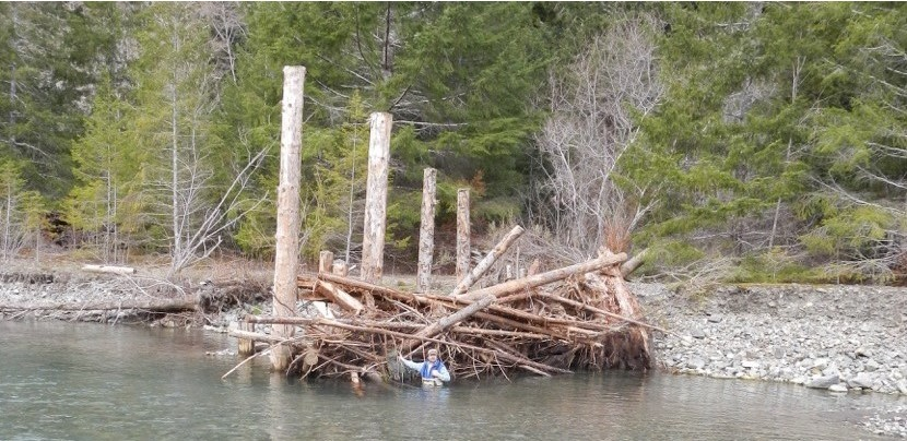 Lower Klamath River Large Wood Installation