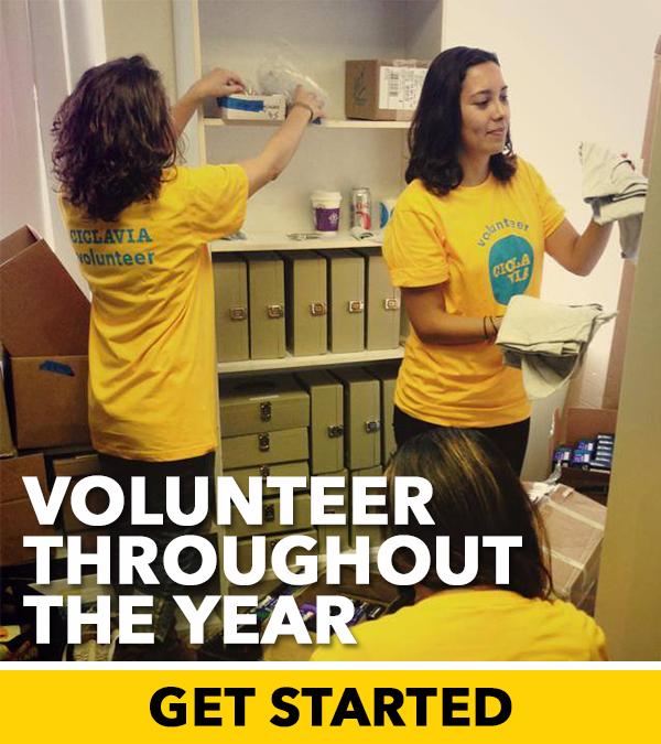 Volunteer throughout the year