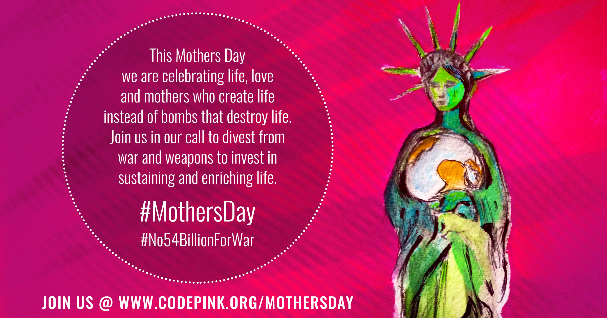 Join CodePink for Mother's Day! @ Golden Gate Bridge Plaza, SF side | San Francisco | California | United States