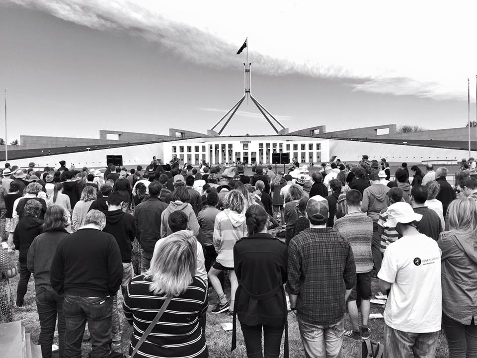 Vigil on Parliament House Lawn