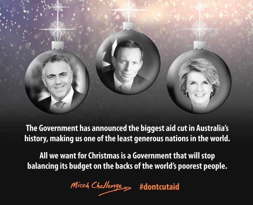 Save Australian Aid Now