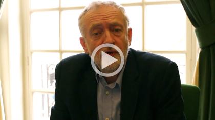 Click to view the video message from Jeremy Corbyn