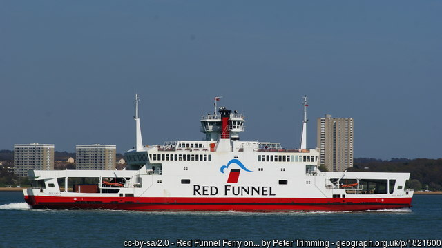 Red Funnel very © Peter Trimming