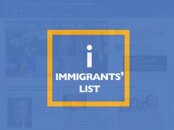Immmigrants'  List