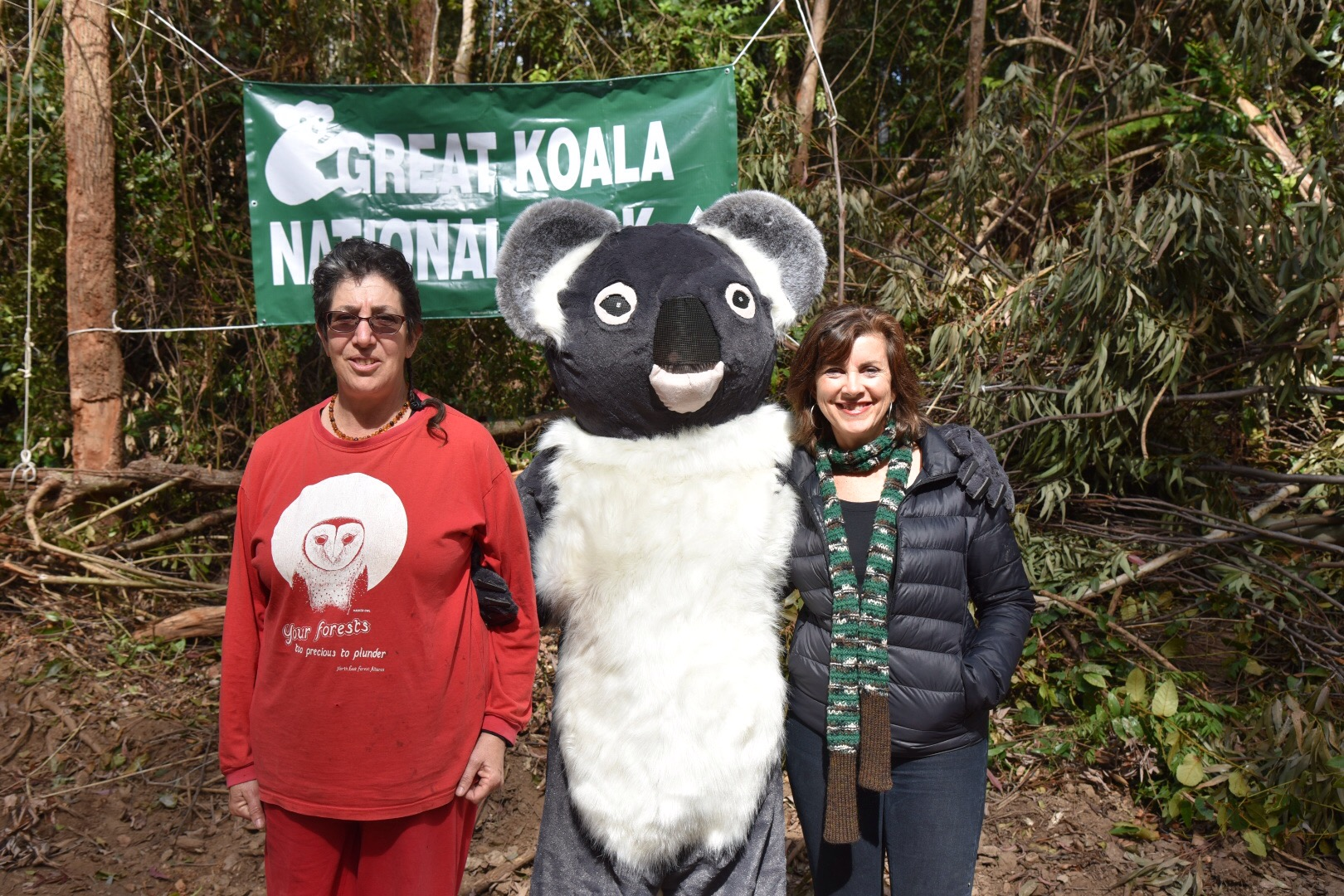 Greens MP joins locals blockading to protect koalas in Gladstone State Forest - Dawn Walker MP