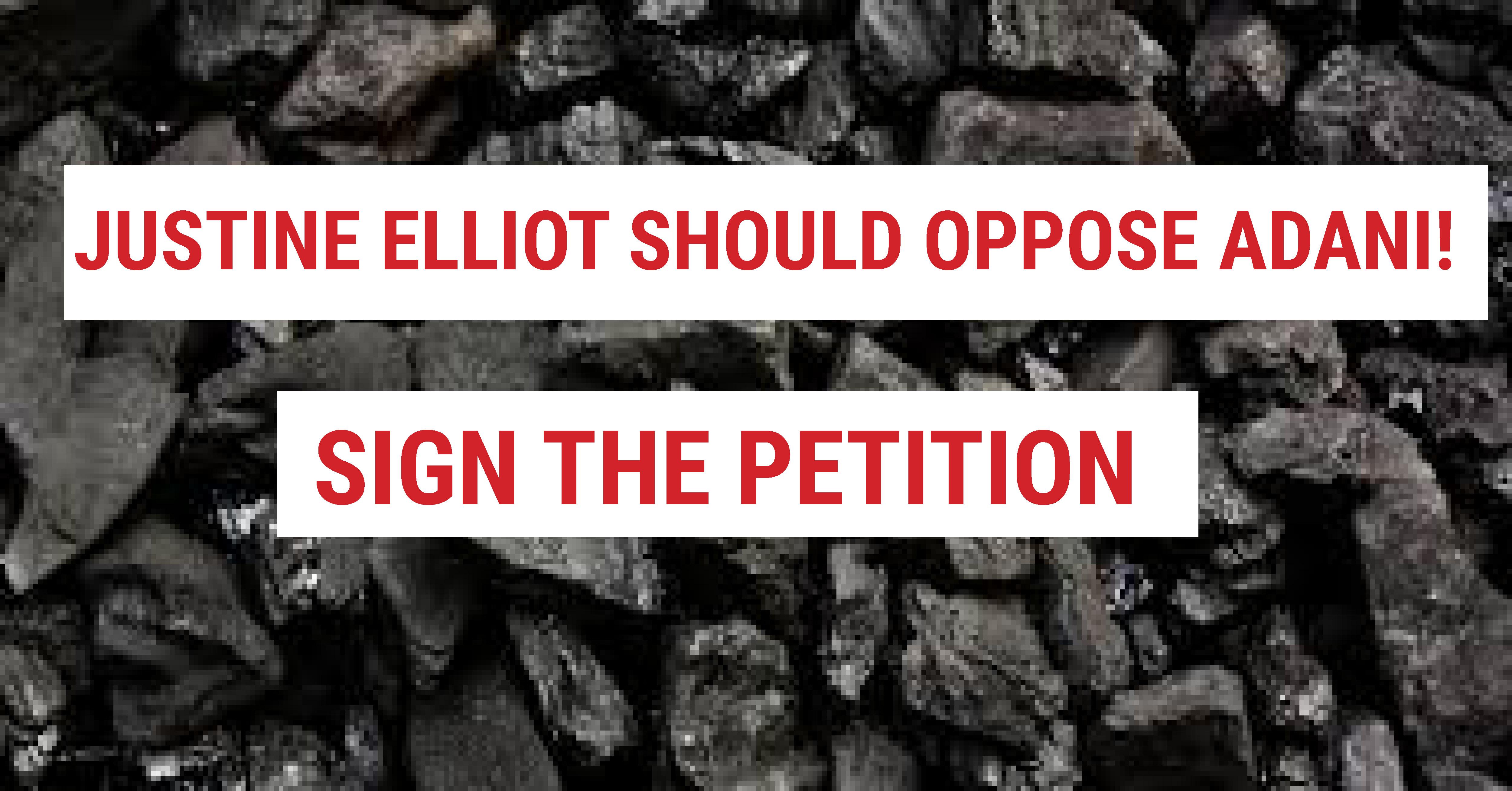 Justine Elliot should oppose Adani! - Dawn Walker MP