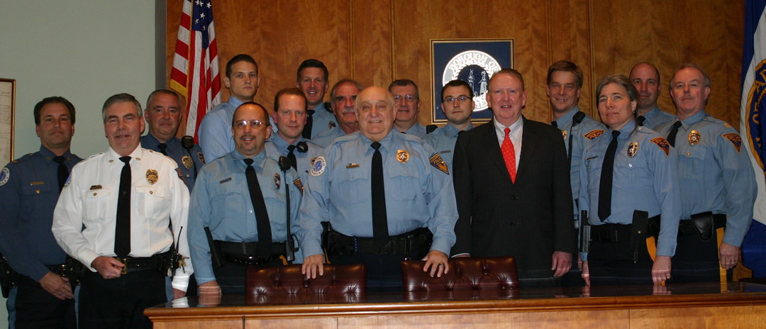 Ed Borden Swears in new crop of Auxiliary Police 