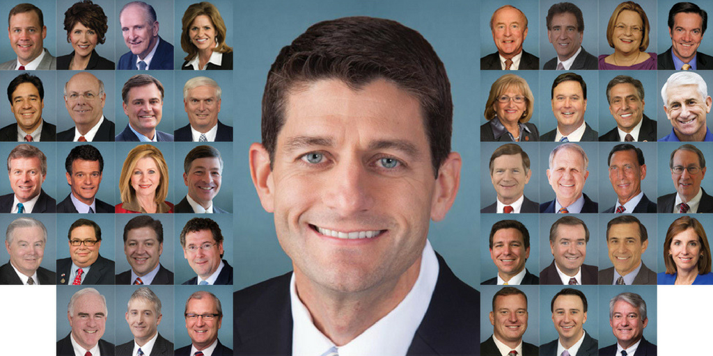 Ryan quits, joins a historically large crowd of GOP retirees