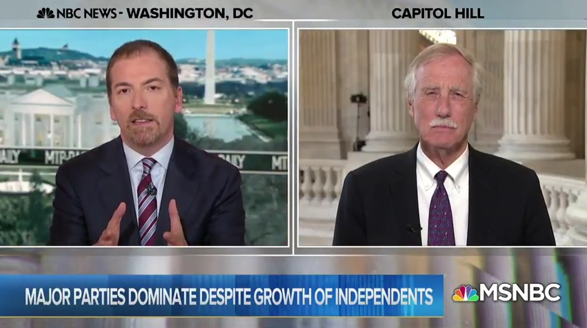 Angus King talks ranked choice voting on Meet the Press Daily