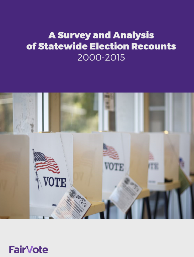 Statewide Election Recounts, 2000-2015