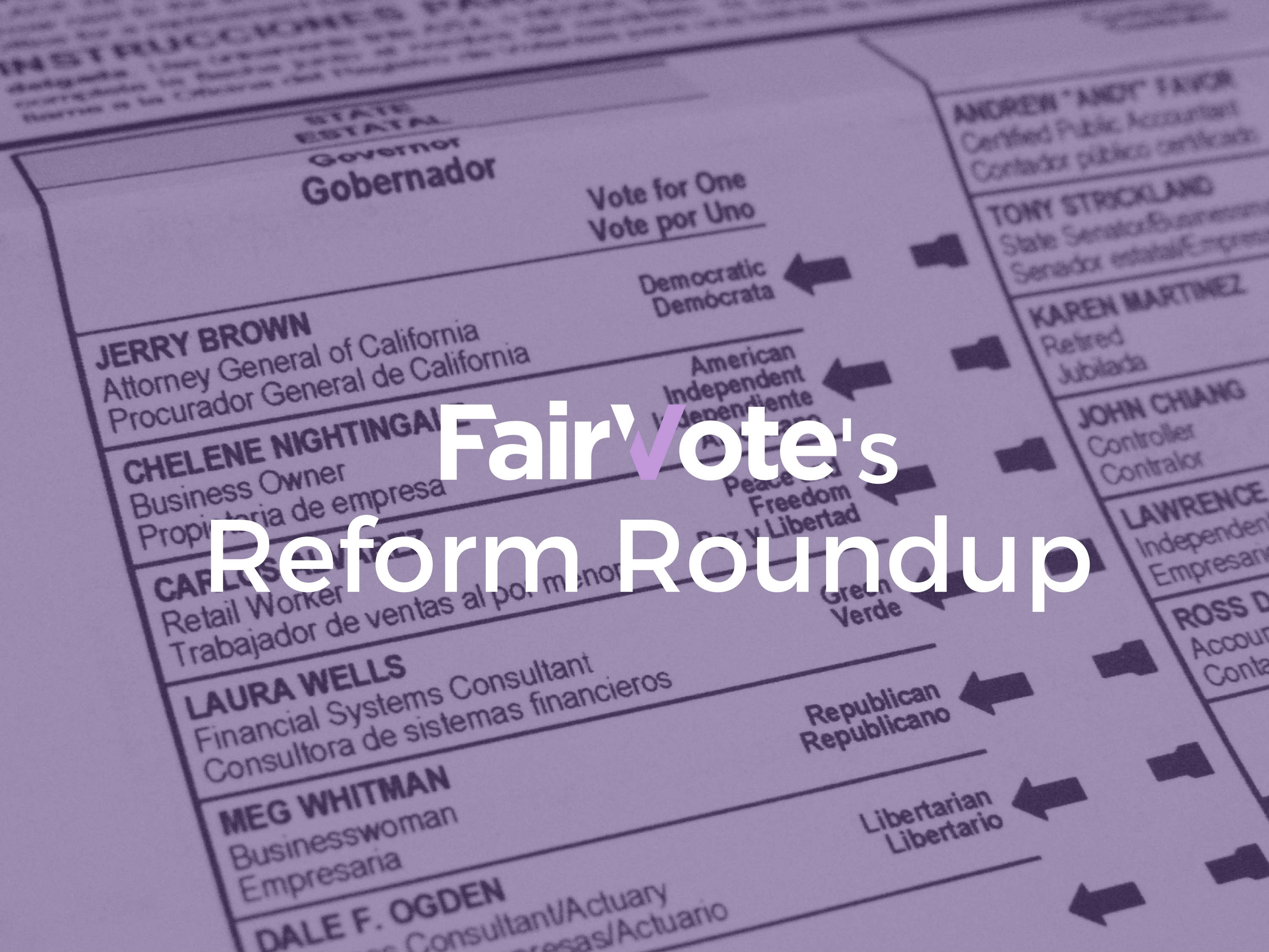 Reform Roundup: October 21st, 2016