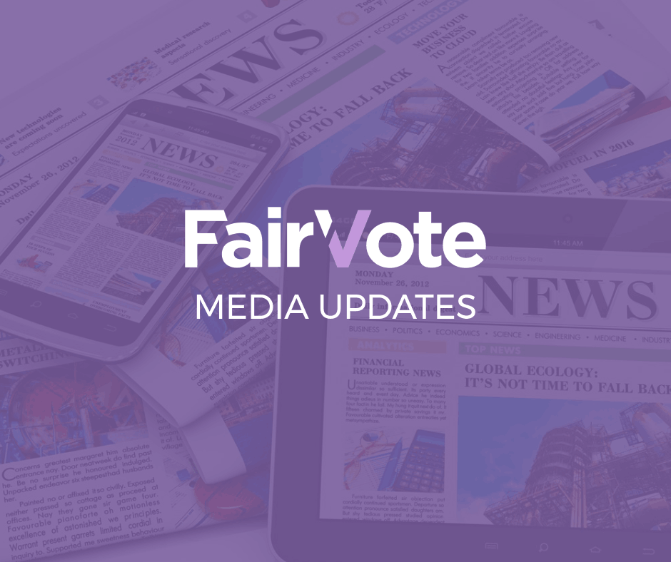 What's up in Democracy with FairVote (September Edition)