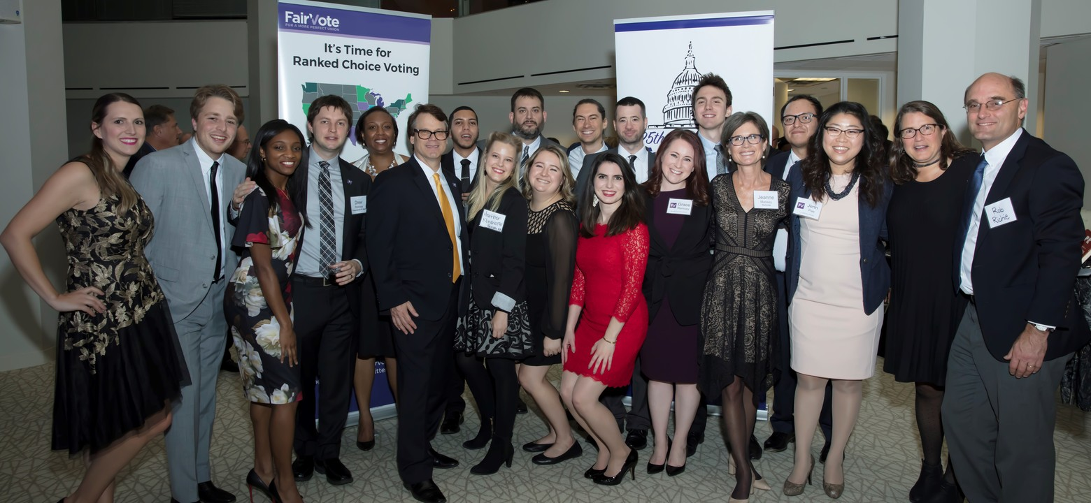 FairVote staff at the 2017 Champions of Democracy Awards