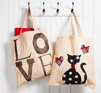 Upcycled shopping bags