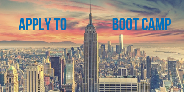 Apply to NYC Boot Camp