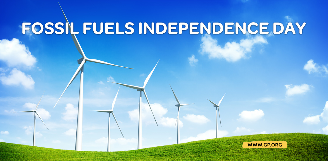 declare independence from fossil fuels www