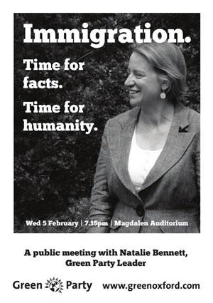 Natalie Bennett poster