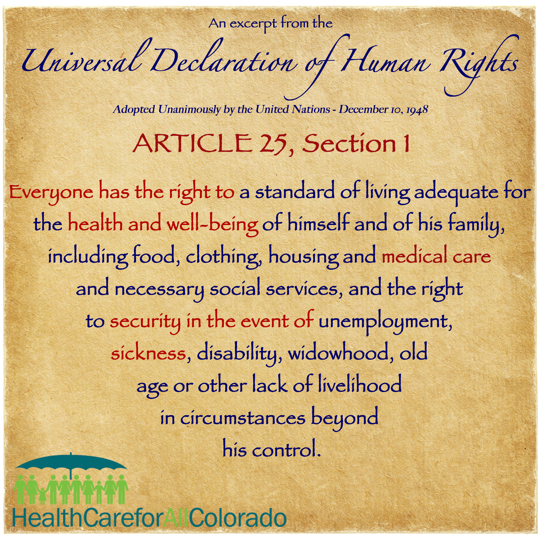 when is a human right a human right? - health care for all colorado