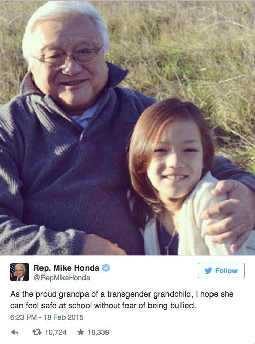 Rep. Honda Tweet