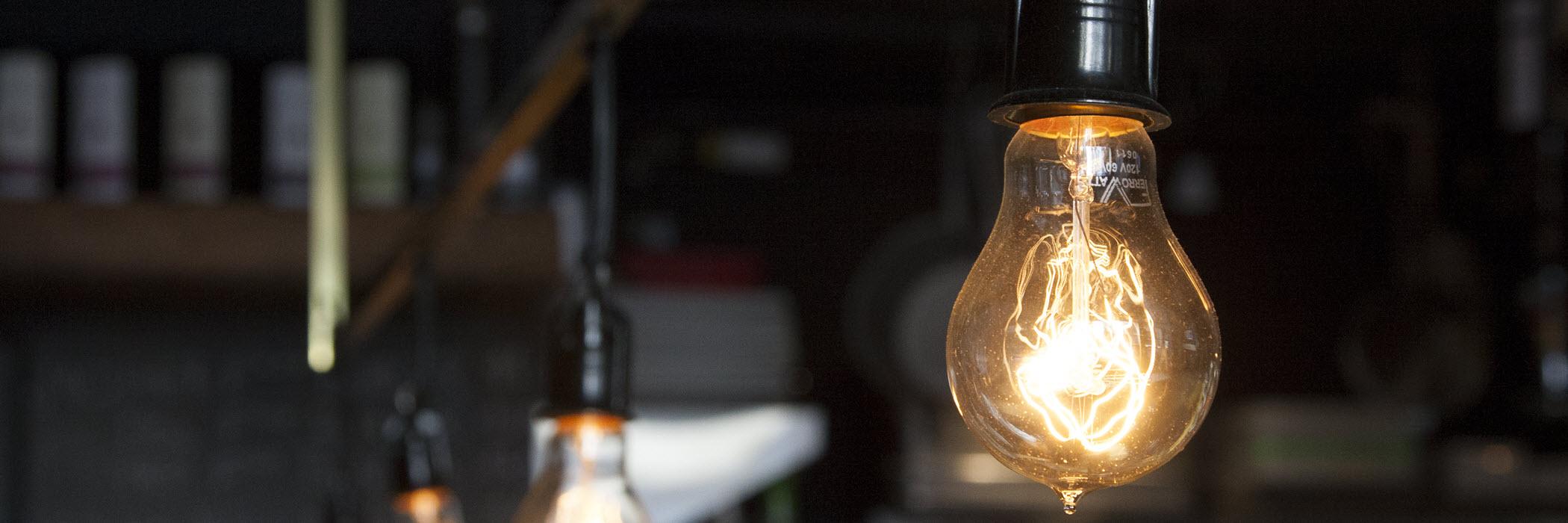 Лампы эдисона в дизайне