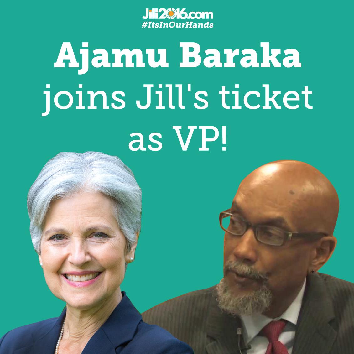 Jill Stein Selects Human Rights Activist Ajamu Baraka as Vice-Presidential Running Mate - Jill Stein 2016