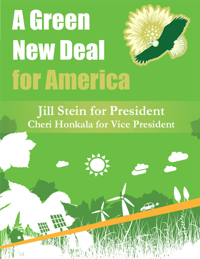 Cover: A Green New Deal for America, 2012, Jill Stein for President