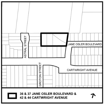 36 & 37 Jane Osler Blvd. & 42 & 44 Cartwright Ave.