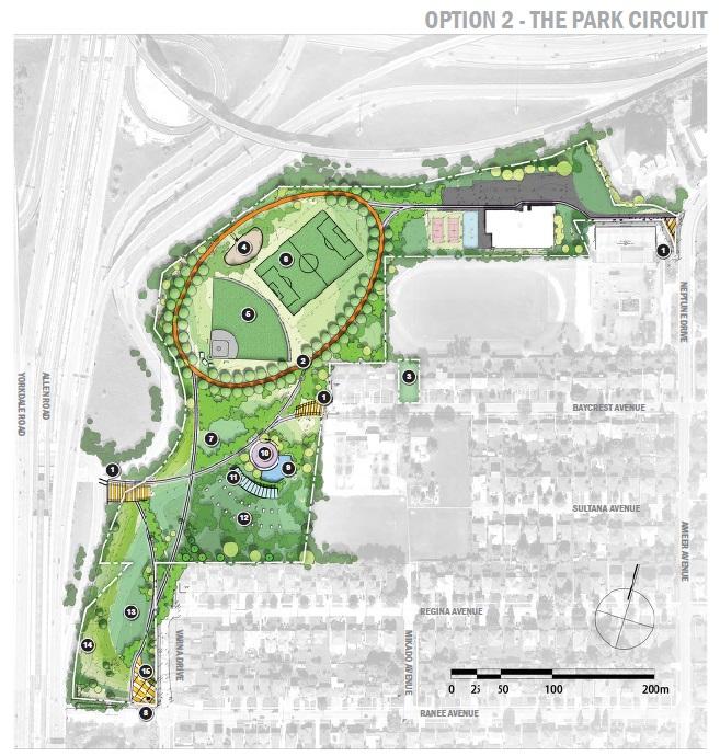 Baycrest Park - Option 2: The Park Circuit