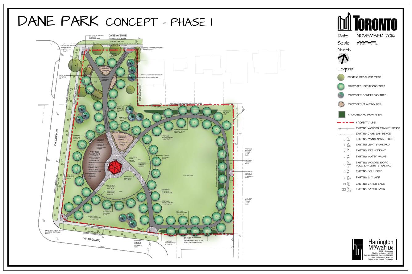 Dane Park Concept - Phase 1