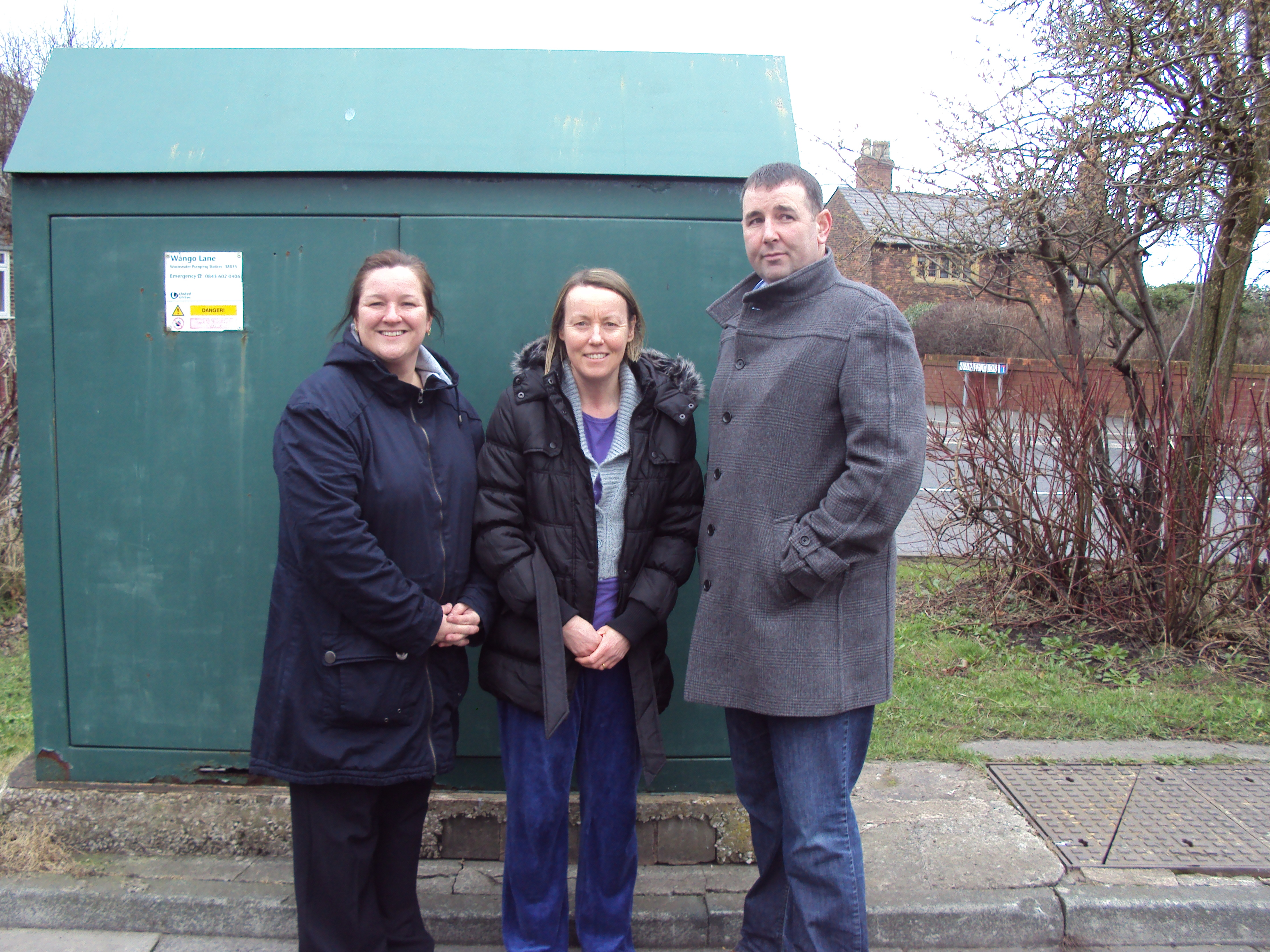 Aintree Labour Action Team leader Marion Atkinson and Molyneux Ward Labour councillor Tony Carr with Aintree mum Gillian Gill who reported the obscene graffiti to the Labour team