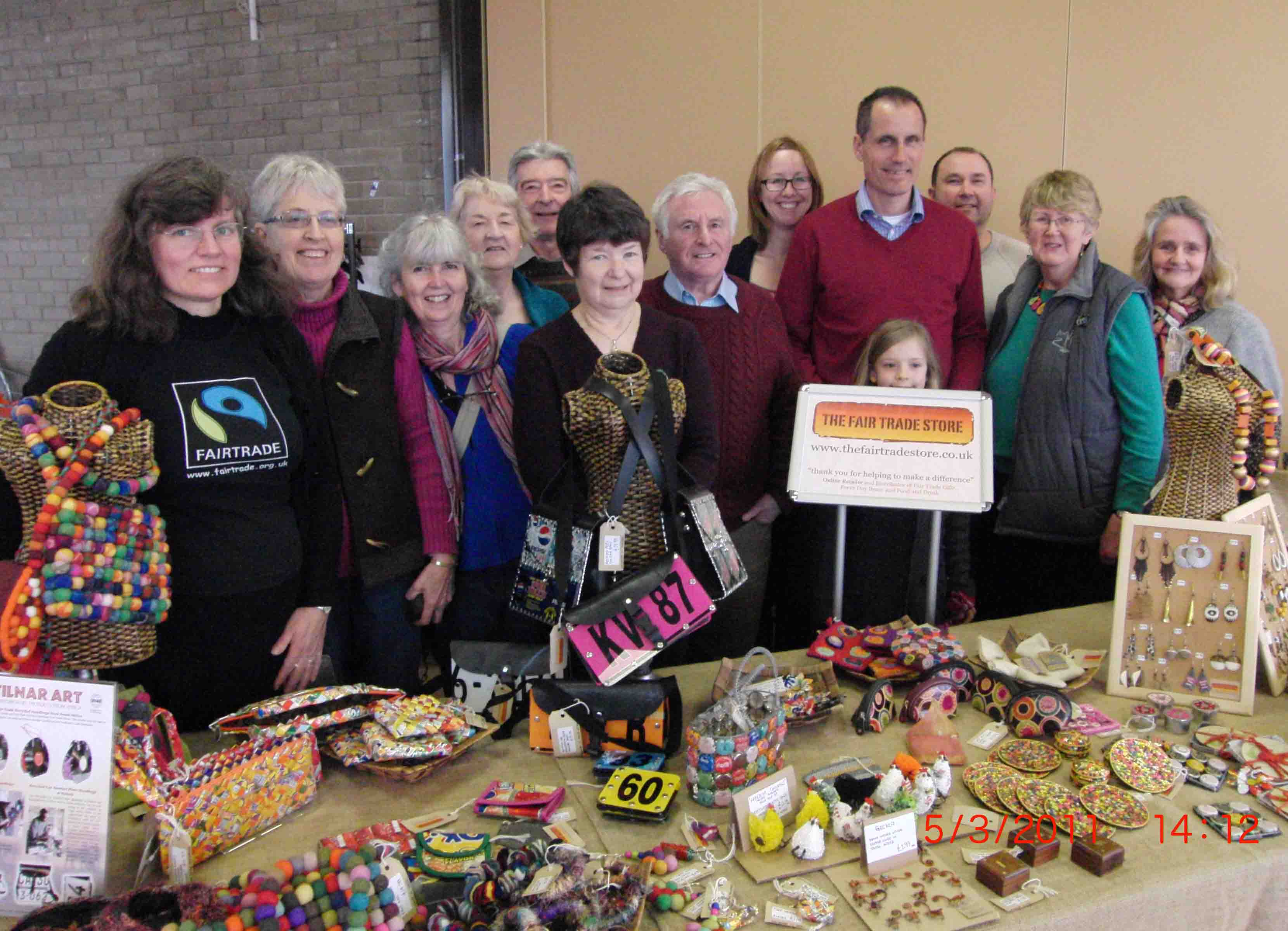 Sefton Central Labour MP Bill Esterson and Cllr Steve McGinnity with helpers at the Justice & Peace Fairtrade event at St Helen's Church in Crosby.