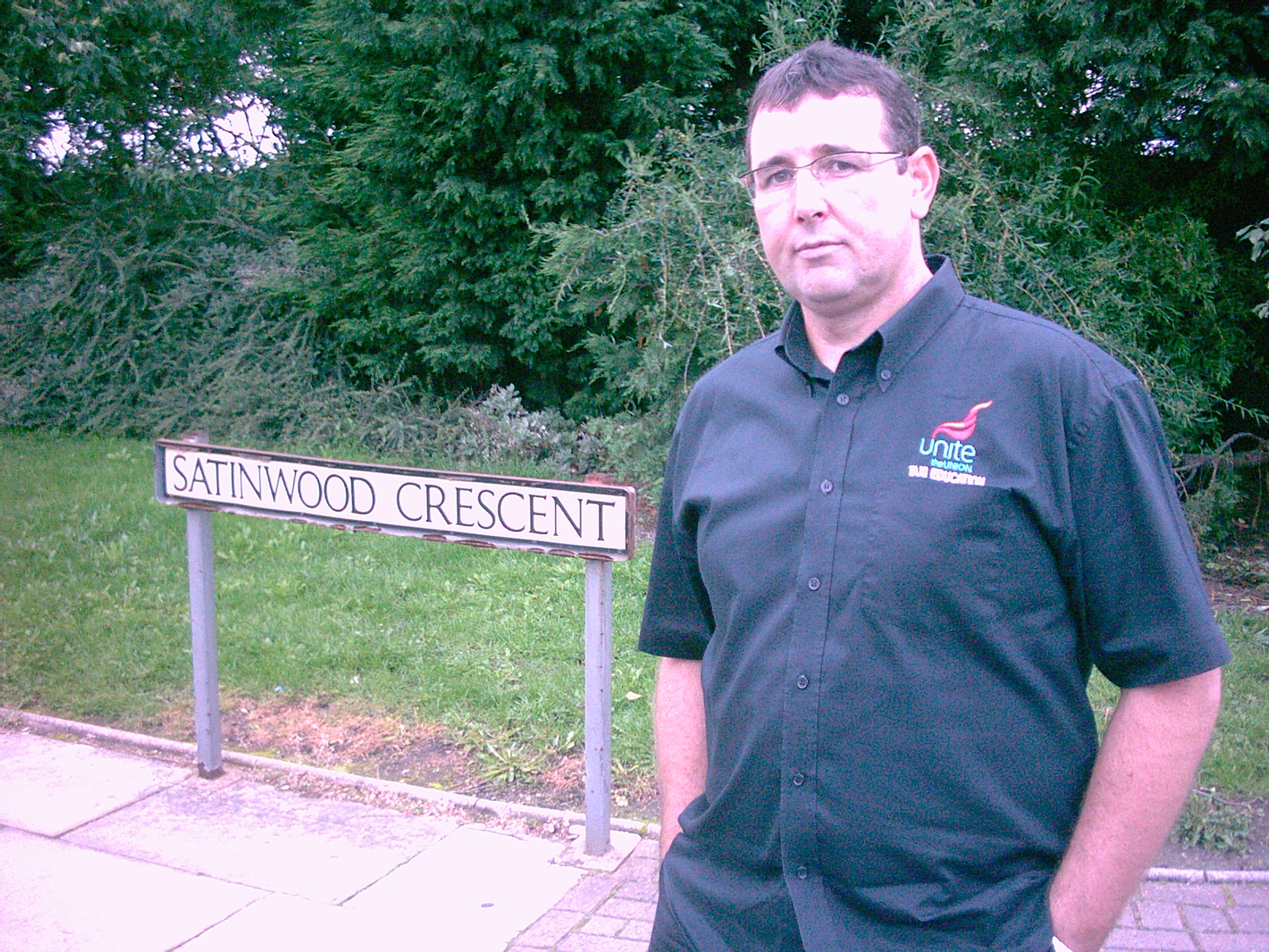 Molyneux Ward's Cllr Tony Carr at Satinwood Crescent in Melling