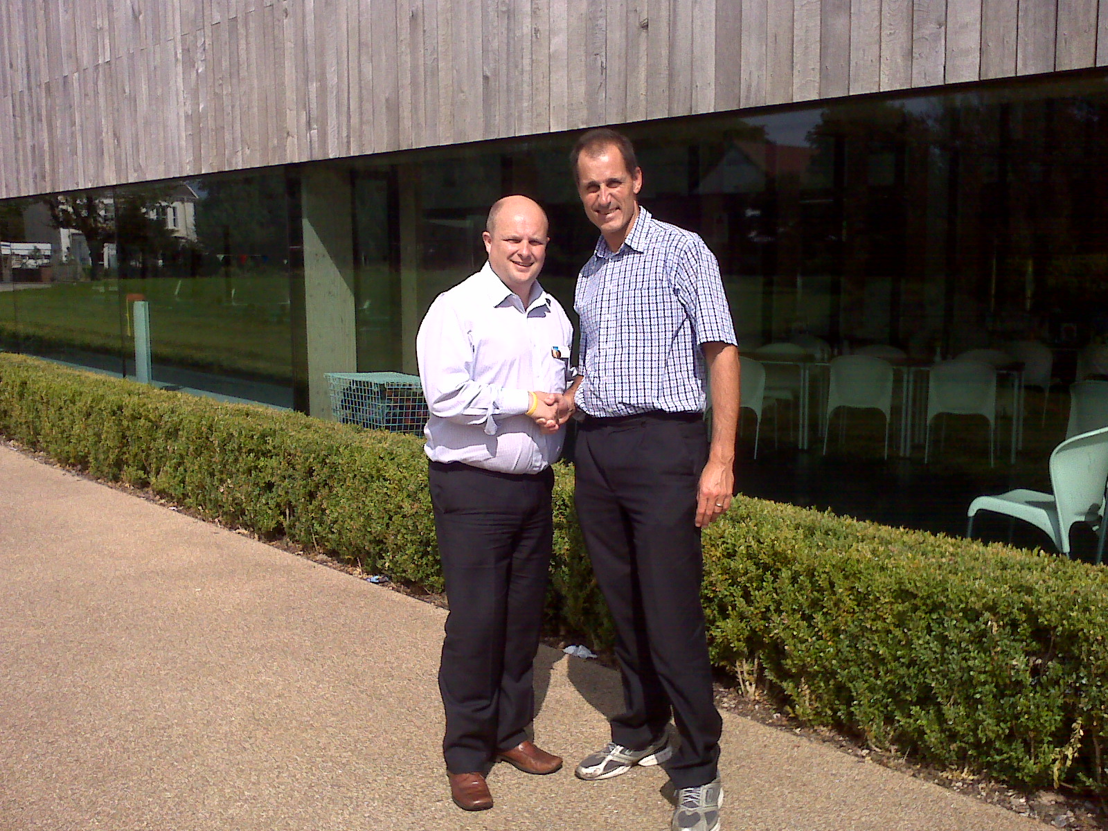 Sefton Central MP Bill Esterson with Formby Pool Trust chief executive Mark Ascroft