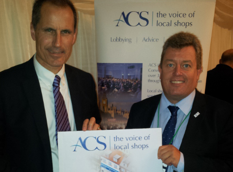 Sefton Central Labour MP Bill Esterson with Association of Convenience Stores chairman Jonathan James in Parliament.